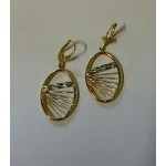 9ct Two Tone Modern Earrings